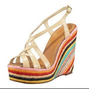 Kate Spade wedge Lindsay sandal size 6.5